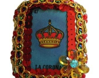 Tin Nicho Box, Mexican Tin, Loteria La Carona, Mexican Wedding Swag,Day of the Dead, Mexican Loteria, Mexican Kitsch, Loteria Tin