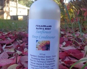 SALE 8 fl oz Sunflower Vegan Hair Conditioner, for Very Dry Hair or after Coloring