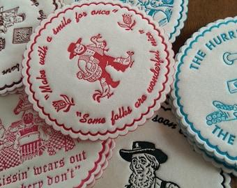 24 x ASSORTED Vintage Pennsylvania Dutch Paper Napkin Coasters