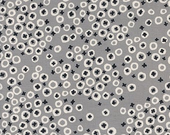 Cotton + Steel FABRIC - Collaborative - Black & White - Berry Patch - Grey