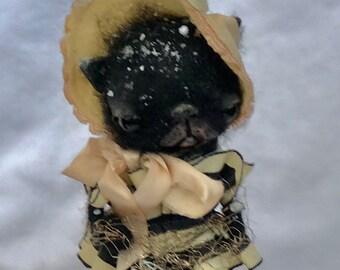 The well dressed cat  Ooak  art doll