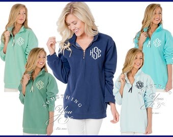 Monogrammed Comfort Colors 1/4 Zip Sweatshirt, Comfort Colors Womens Sweatshirt Pullovers, Personalized Comfort Colors quarter zip qtr zip