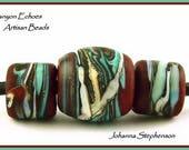 BIG HOLE BEADS Mahogany Canyon Echoes Artisan Beads