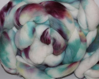 Kettle Dyed Falkland Wool Top.  Soft and easy to spin. 1lb. Braid. Spin. Felt. Roving. F33