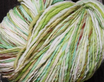 Handspun and dyed Falkland yarn. Next to skin soft. Huge Skein. 1lb/ 520 yards  F169