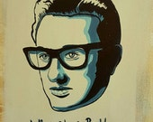 Buddy Holly - Original painting by Mr Hooper of Nashville Tennessee