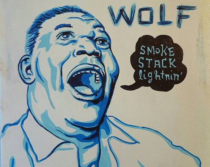 Howlin' Wolf - Original painting by Mr Hooper of Nashville Tennessee