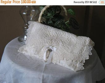 NOW on SALE Vintage Silk & Lace Clutch by fancibags on Etsy