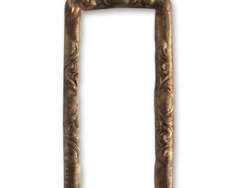 2 Scrolled 43x20mm Frame, Vintaj Natural Brass (P330)