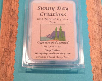 Cypresswood Scented 100% Natural Soy Wax Break Away Tarts 3 oz