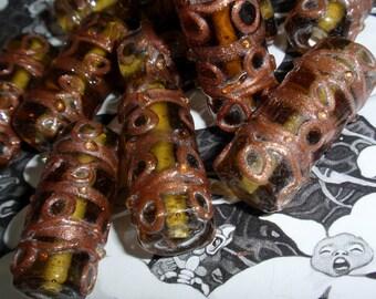 Handmade Sage Green Beads Lampwork Glass Beads-2