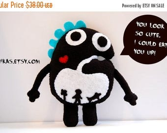 35% SALE Chomp The Hungry Plush Monster / Stuffed Toy