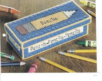 Pencil Box ~ plastic canvas pattern  ~  The Needlecraft Shop