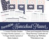 Printable Homeschool Planner: INSTANT DOWNLOAD