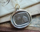 """Wax Seal Necklace """"Neglect Me, Lose Me"""" -  Inspirational Jewelry - Don't Take Me for Granted - Love Quote - I'm Inspired by Love - F140"""