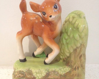 Cute vintage Bambi deer bookend on excelkent condition