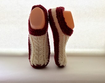 Mens Irish Slippers with non slip soles - 100% Irish Wool