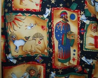 Novelty fabric Bethlehem Christmas OOP Alexander Henry fabric Nicole de Leon