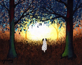German Shorthaired Pointer Dog Fol Art PRINT of Todd Young painting FOREST LIGHT
