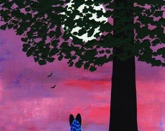 Australian Cattle Dog Blue Heeler art print by Todd Young TWILIGHT