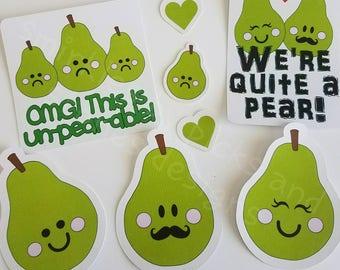 Smirkles by Picks and Stones Designs Pear Die Cuts/ Traveler's Notebook Die Cuts/ Pear Die cuts