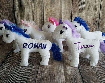 Unicorn Plush with Name, Custom Personalized Stuffed Animal for Valentine's Day, Birthdays, Easter, Christmas Gift, Stocking Stuffer