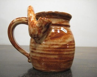 Tan Mocha  *  - Wake and Bake Small  Mug....  MUG and a PIPE.... AWESOME !!!  .......