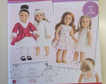 Simplicity 8280, American Girl 18 Inch Doll Dress Pattern, Doll Coat Pattern, AG Doll Dress Pattern, Doll Party Dress