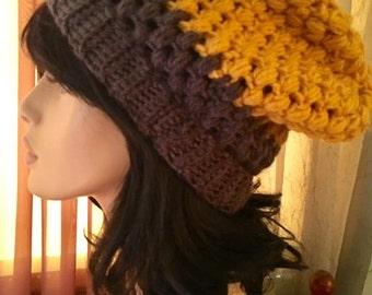 Womens Slouchy Hat Tam Accessory Dreads Women Mens Slouchy Crochet Tam  Hat Dreads Slouchy Boho