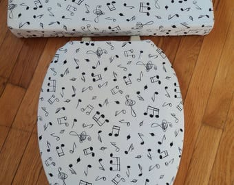 Music Notes Toilet Seat Cover Set