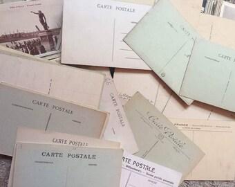 Antique French Post Cards Postcards Paris 32 pc UNUSED Vintage Post Card Paper Shabby