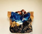FOR V//Reversible JOSEPHINE Traveler in Vintage Italian Tapestry and Mixed Leather with Tote Straps