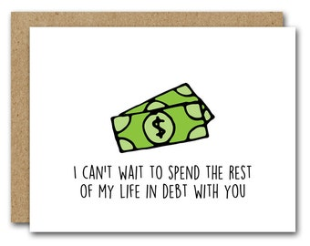 Funny Husband Card, INSTANT DOWNLOAD, Funny Boyfriend Card, Anniversary Card, Valentines Day Card, Birthday Card, Love Card, In Debt Card