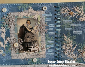 Surrender ALTERED Chipboard Album with 12 pages of art goodness