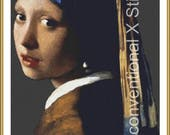 Girl with a Pearl Earring 1902 cross stitch pattern - Johannes Vermeer