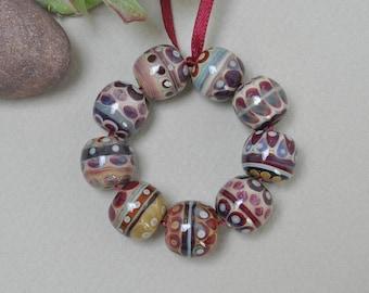 Berries - Lampwork beads by Loupiac