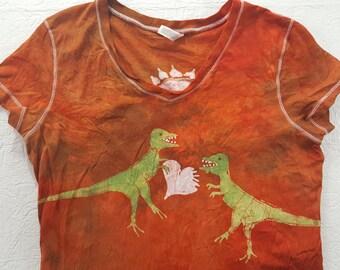 XXL Fitted Women's T Rex stole my Heart batik