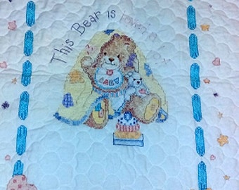 This Bear Is Loved A Lot Baby Quilt/Crib Quilt