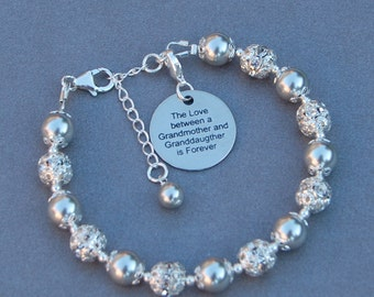 Grandmother Granddaughter Gift, New Grandma, Granddaughter Jewelry, Grandma Gift, Grandmother Bracelet, Gift for Gran