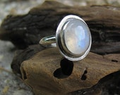 15% OFF Rainbow Moonstone Ring, Moonstone Silver Ring, Boho Jewelry, Sterling Silver Ring, Custom Jewelry, Made to Order, Choose Your Size