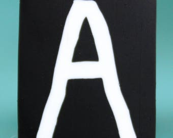 Polymer Clay Letter A Cane, 2-inch length -'Alphabet Soup' series (51bb)