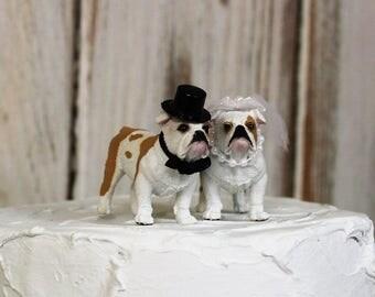 Dog Cake Topper, Dog Wedding Cake Topper, Bull Dog Animal Cake Topper, Dog Lover Cake Topper, Grooms Cake, Mans Best Friend Cake Topper