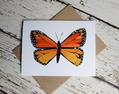 Monarch Butterfly Card of Original Collage