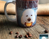 Goldendoodle dog doodle Coffee company graphic art MUG 11 oz ceramic coffee mug
