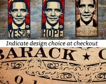 Barack obama hope change yes we can vintage style election canvas presidency vintage style artwork on canvas