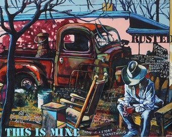 This is Mine, painting by mixed media artist Juliana Coles