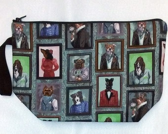 Cats or Dogs Paintings Portraits Print Project or Travel Bag