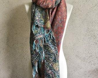 Amazing silk kantha shawl