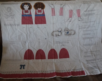 Once Upon a Time Mary Had Little Lamb Story Doll Fabric Panel
