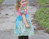 35% OFF Sewing Pattern/Tutorial for Apron Twirl Peasant tops and dresses sizes newborn through 12 girls Instant